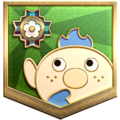 """The """"Dreams of Adventure"""" badge in Pikmin 3 Deluxe."""