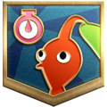 """The """"Clocking In"""" badge in Pikmin 3 Deluxe."""