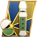 """The """"Evasive Action"""" badge in Pikmin 3 Deluxe."""