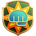 """The """"Bare-Knuckled"""" badge in Pikmin 3 Deluxe."""