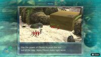 Page 1 of the fourth unique hint in the Tropical Wilds in Pikmin 3 Deluxe. This screenshot of the hint page should be replaced with the hint image itself when possible.
