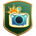 """The """"Shutterbug"""" badge in Pikmin 3 Deluxe."""