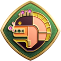 """The """"Achieving Enlightenment"""" badge in Pikmin 3 Deluxe."""