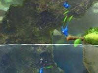 Diving cutscene in the Foaming Lake.