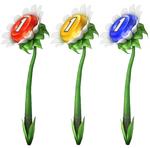 Three Pellet Posies, one of each color.